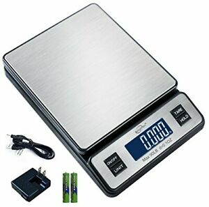 Digital Postal Shipping Scale 50lb Battery Ac Adapter Tare hold Function