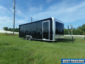 2021 8 X 24 Race Ready New Enclosed Carhauler Motorcycle Trailer Awning Power Ac