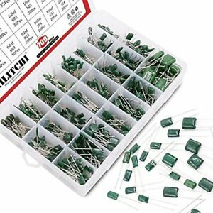 Hilitchi 700pcs 24 value Mylar Polyester Film Capacitor Assorted Colors