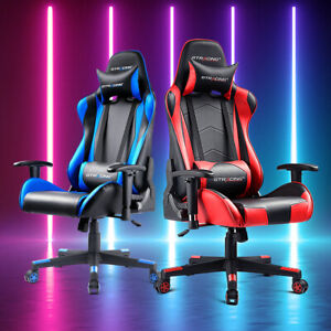 Gtracing Gaming Chair Racing Ergonomic Office Swivel Recliner With Free Pillows