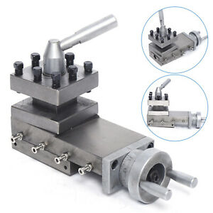 Metal Lathe Cross Slide And Tool Holder Compound Lathe Parts Stroke 90mm M5 35