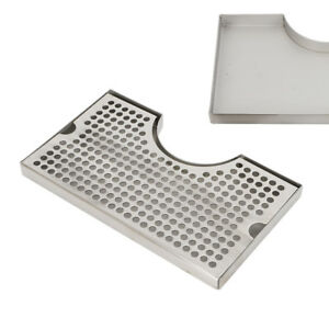 New Surface Mount No Drain Stainless Tap Draft Beer Kegerator Tower Drip Tray Us