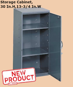 30 Inch Storage Cabinet Adjustable Height 13 3 4 In Width Commercial Gray New