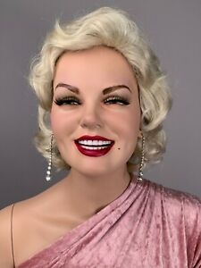 Vintage Decter Mannequin Full Realistic Smiling Teeth Glam Harlow Female Pin Up