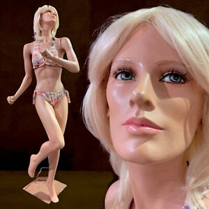 Vintage Realistic Full Female Mannequin Life Size Running Dancing Action Almax