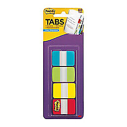 Post it Note Pad Tabs With On the go Dispenser Tabs Disposable 1