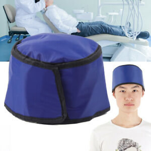 X ray Inspection Radiation Protection Clothing Lead Rubber Head Shield Hat Blue