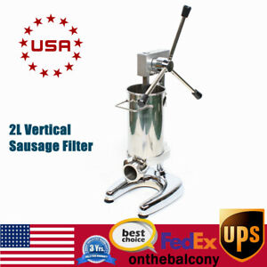 Sausage Stuffer Sausage Maker Vertical Meat Stuffer Stainless With 4 Enema Mouth