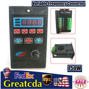 750w 220v Single Phase To 3 Phase Output Frequency Converter Variable Drive