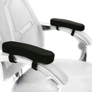 2pcs Chair Armrest Pad Memory Foam Comfy Office Chair Arm Rest Cover For Elbows