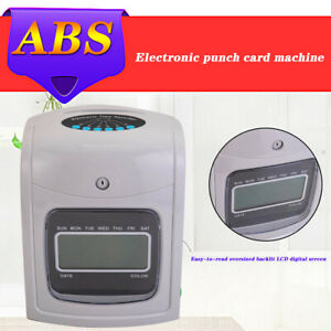 New Lcd Display Employee Attendance Punch Time Clock Payroll Recorder 50 Cards