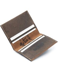 Main Street Forge Leather Business Card Holder Made In Usa Bootlegger Brown