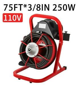 Drain Cleaner Machine 75 X 3 8 250w Commercial Sewer Snake Plumbing Machine
