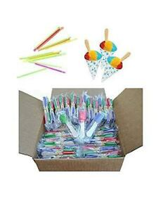 Perfect Stix Snow Cone Cup Kit With Candy Spoonz 50 Cups 50 Straws And 100
