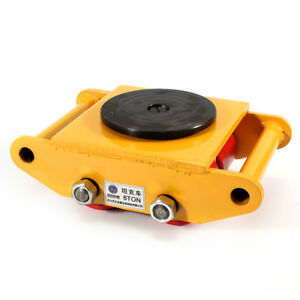 6t 360 Heavy Duty Machine Dolly Skate Machinery Roller Mover Cargo Trolley Us