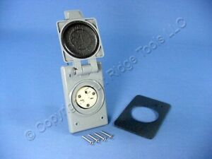 New Leviton Nema 6 15r Flanged Outlet Weather Resistant Cover 15a 250v 15679 cwp