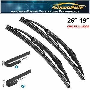 26 19 Metal Frame Windshield Wiper Blades Fit For Toyota Prius 11 15 Set Of 2