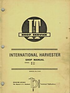 International 274 And 284 Tractor I t Shop Manual Ih 49