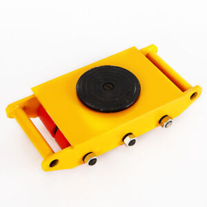 8t Heavy Duty Machine Dolly Skate Roller Machinery Mover Cargo 360 Rotation Cap