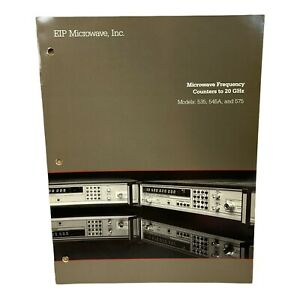 Eip Microwave Models 535 545a 575 Frequency Counters Technical Data Sheet