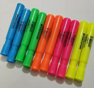 Highlighters Bulk Lot Of 10 New Wexford 2 Of Each Highlighter Color