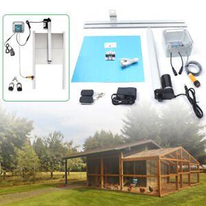 Backyard Poultry Chicken Coop House Automatic Door Opener Timing Photoelectric