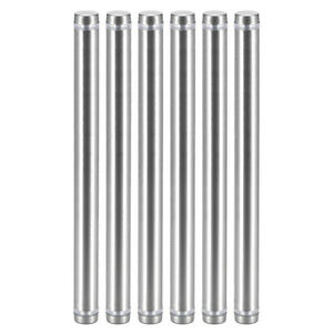 Glass Standoff Double Head Stainless Steel Standoff Holder 12mm X 154mm 6 Pcs