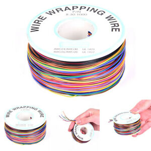 30awg Mixed Color Jump Wire Tinned Copper Pvc Insulation Single Strand Ok Wi uxg
