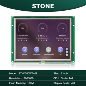 8 Inch Graphic Tft Lcd Module Smart Programmable Touch Screen Display With Uart