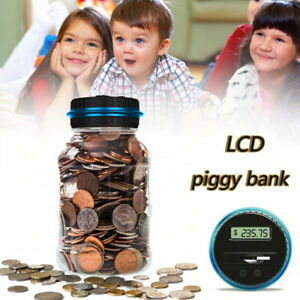 Electronic Piggy Bank Counter Coin Digital Lcd Counting Coin Money Saving 1 8l