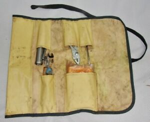 Rare Vintage 1970s Toyota Motor Auto Tool Kit In Original Roll Made In Japan