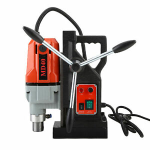 Md 40 Magnetic Drill Press 1 5 Boring 2700lbs Electromagnetic Drilling Machine