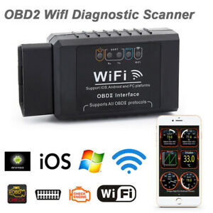 Elm327 Wifi Obd Obdii Auto Car Diagnostic Scan Tool Scanner For Ios Android Hb