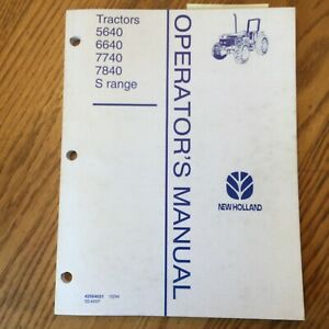 New Holland 5640 6640 7740 7840 S Tractor Operator Manual Maintenance 42564031