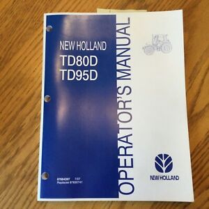 New Holland Td80d Td95d Tractor Operator Manual Operation Maintenance 87684397