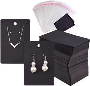 Tuparka 120 Pcs Earring Display Card Necklace Display Cards With120pcs Card For