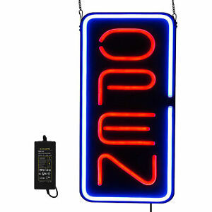Vertical Led Neon Business Open Sign Super Bright Light For Store Window Display