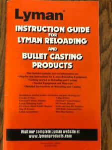 Lyman Reloading And Cast Bullet Guide Product Instructional Manual Diagrams $9.50