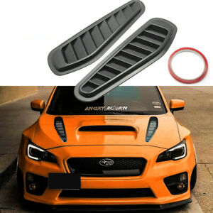 Sport Racing Car Front Hood Side Air Flow Vent Hole Cover Decor Trim Universal Fits 2010 Camaro