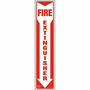 Fire Extinguisher Sign 2 pk With Vertical Red White Down Arrow J J Kel