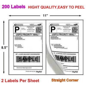 Labels Premium Mailing Shipping 8 5x5 5 Half sheet Self Adhesive For Usps Fedex