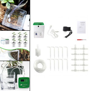 Automatic Watering System Drip Tape Irrigation Kit Double Pump Us Plug