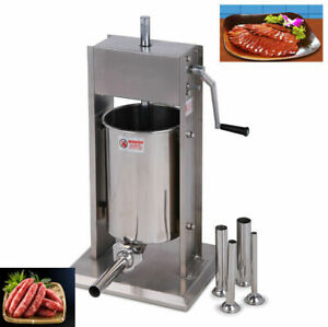 New 5l Vertical Commercial Sausage Stuffer Stainless Steel Manual Meat Press
