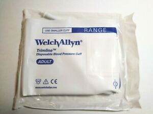 20pcs Welch Allyn Trimline Disposable Blood Pressure Cuff 2 Tube Adult Soft
