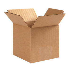 4x4x4 Shipping Boxes 25 Pack Packing Mailing Moving Storage
