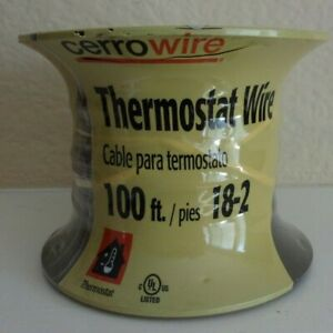 New sealed cerrowire Thermostat Wire 100 Ft 18 2 Doorbell Alarm Wire 210 1002cr