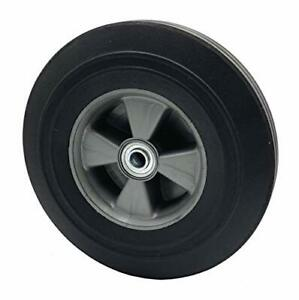 Solid Rubber Hand Truck Wheel 10 58 Axle Size Flat Free Solid Rubber Replace