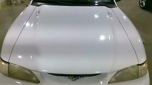 94 98 Ford Mustang Oem Hood Ultra White Zf See Notes Fits 1995 Mustang