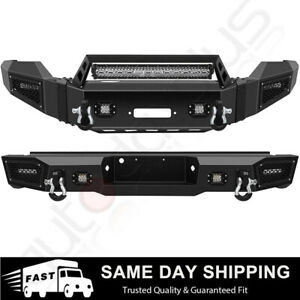Steel Front Rear Bumper W Led Light D Ring Winch For 2011 2016 Ford F 250