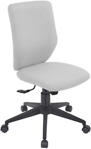 Bowthy Armless Office Chair Ergonomic Computer Task Desk Chair Without Arms Mid